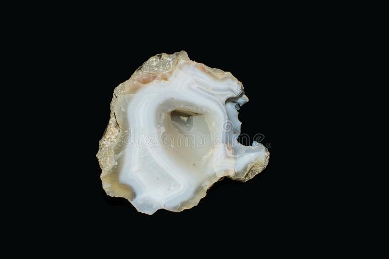 Agate Geode Crystal chalcedony royalty free stock image