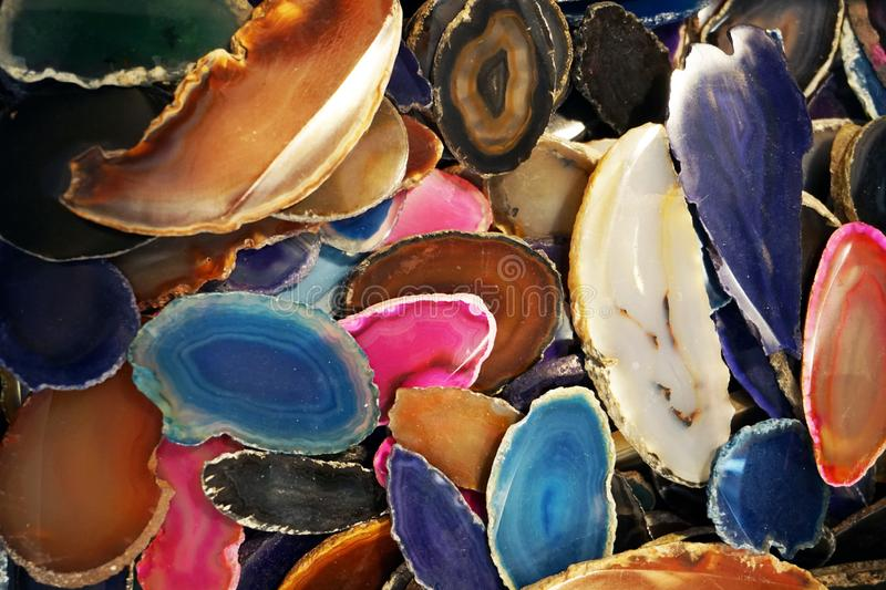 Agate mineral texture. As nice natural background stock illustration