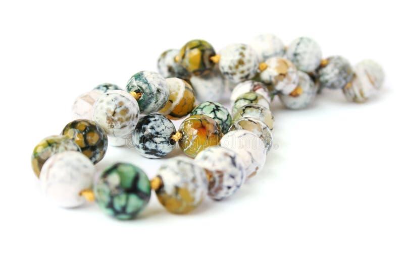 Agate necklace stock photos