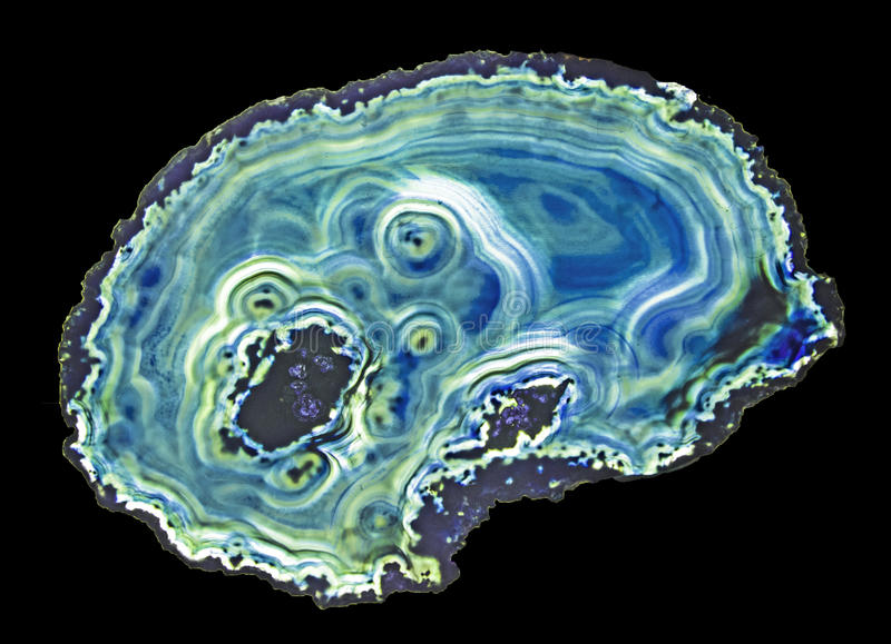 Agate slice. Close up of agate slice royalty free stock photo