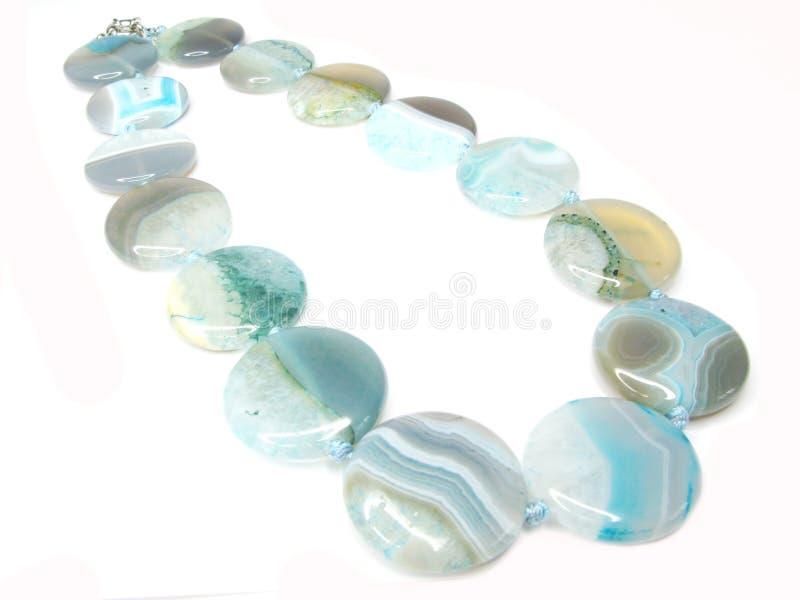 agaten beads blå smyckensemigem arkivfoto