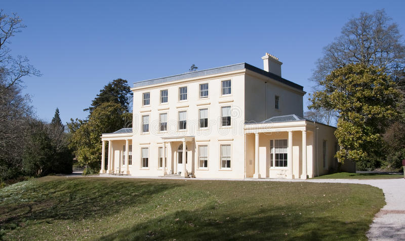 Agatha Christie's Greenway House in Devon. Greenway House in Devon, Holiday home of Agatha Christie royalty free stock photo