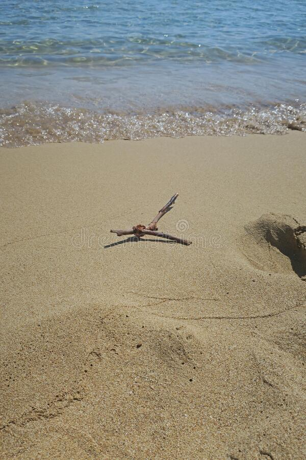 Agathi-stranden i Rhodes royaltyfria foton