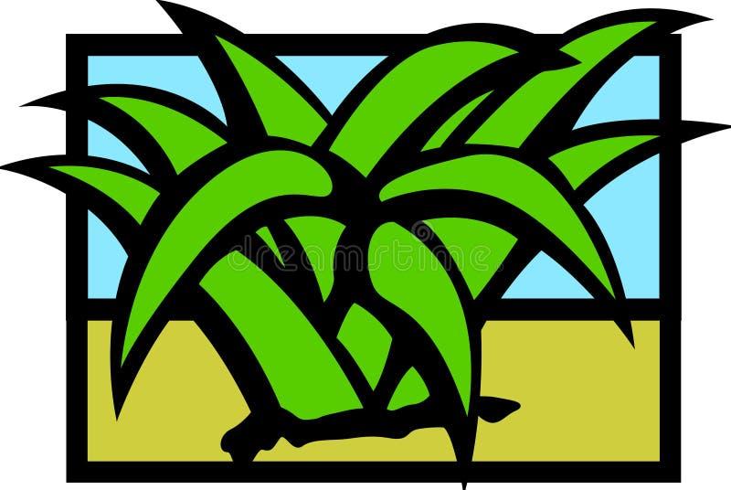 Agave do deserto ou planta do maguey ilustração stock
