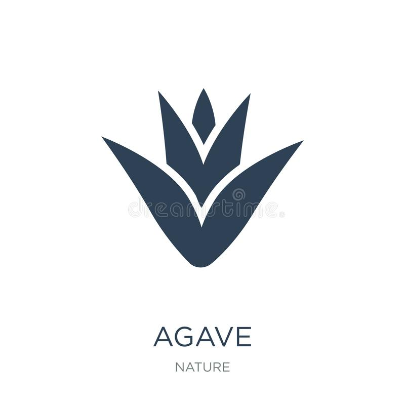 Agave icon in trendy design style. agave icon isolated on white background. agave vector icon simple and modern flat symbol for. Web site, mobile, logo, app, UI royalty free illustration