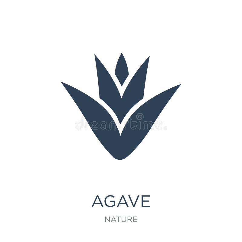 agavepictogram in in ontwerpstijl agavepictogram op witte achtergrond wordt geïsoleerd die eenvoudige en moderne vlakke symbool v royalty-vrije illustratie