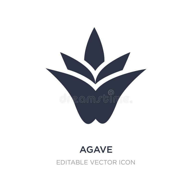 agavepictogram op witte achtergrond Eenvoudige elementenillustratie van Aardconcept stock illustratie