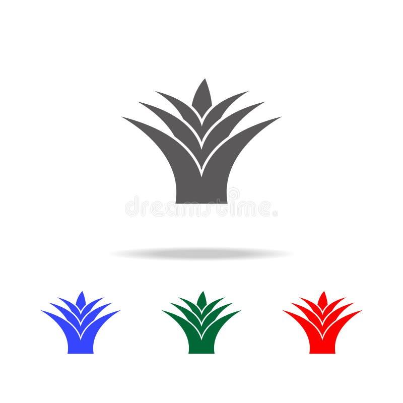 Agavesymbol Beståndsdelar av kultur av Mexico mång- kulöra symboler Högvärdig kvalitets- symbol för grafisk design Enkel symbol f royaltyfri illustrationer