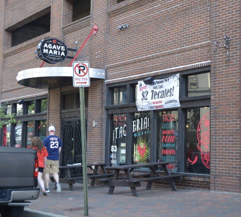 Agawy Maria knajpy Meksykańska witryna sklepowa W centrum Memphis, Tennessee zdjęcia stock