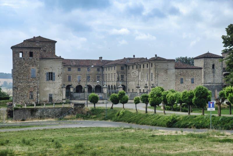 Agazzano Piacenza, het kasteel royalty-vrije stock foto's
