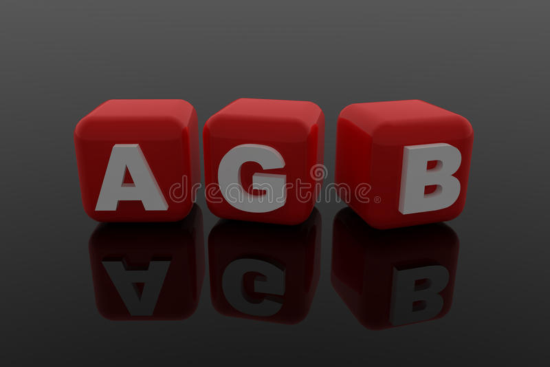 AGB illustrazione di stock