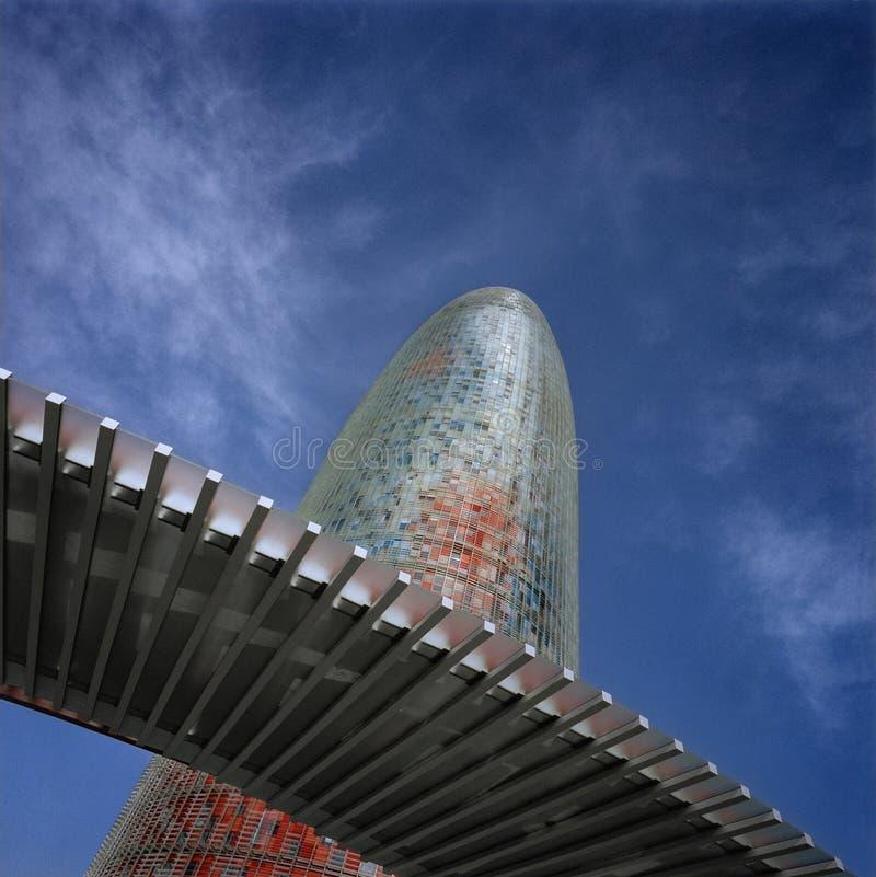 agbar巴塞罗那西班牙塔 免版税库存照片