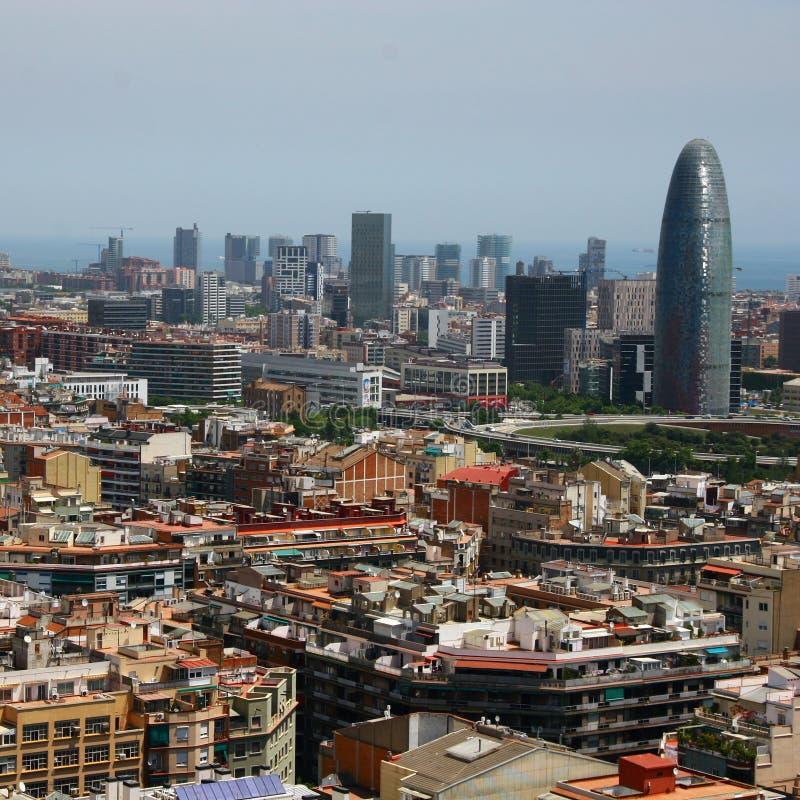 agbar взгляд башни глаза s птицы barcelona стоковая фотография