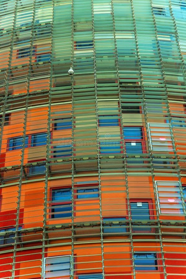 Agbar Torre ist ein Wolkenkratzerturm mit 38 Geschichten in Barcelona Catalon lizenzfreie stockbilder