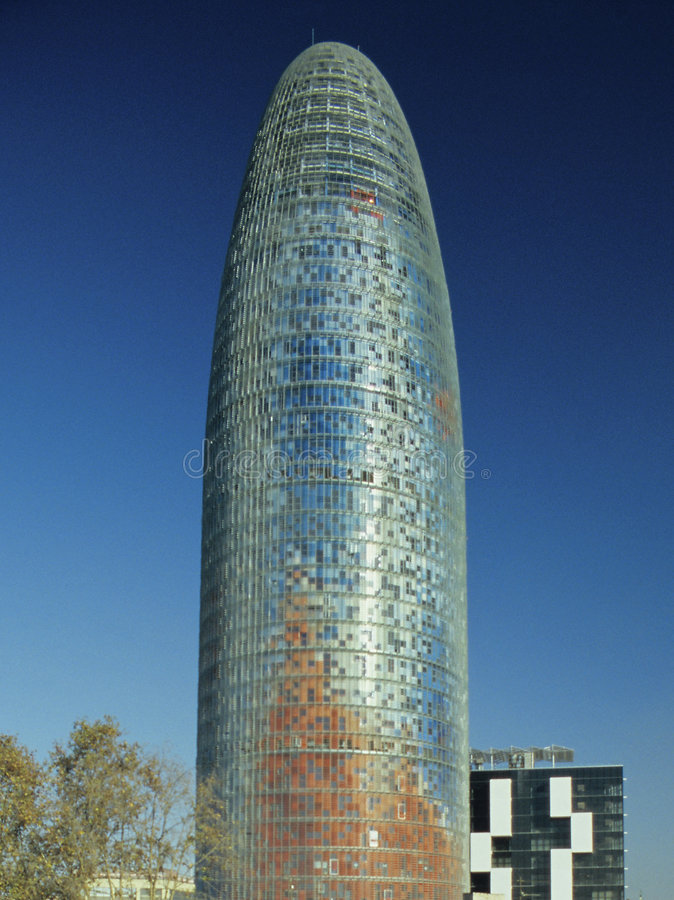 Agbar Tower 1. Agbar Tower in Barcelona, Spain royalty free stock images