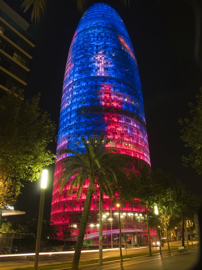Agbar Tower 11. Agbar Tower in Barcelona, Spain royalty free stock images