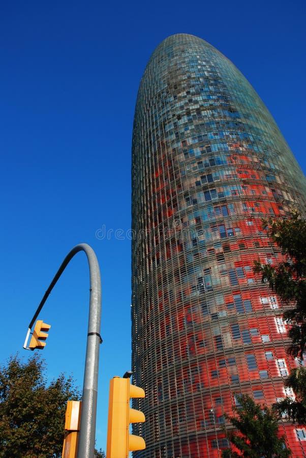 Agbar Tower. Modern Agbar tower in Barcelona stock photo