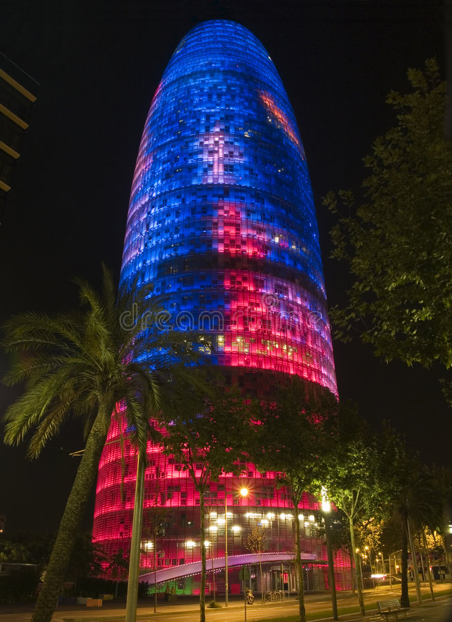 Agbar Tower 13. Agbar Tower in Barcelona, Spain royalty free stock image