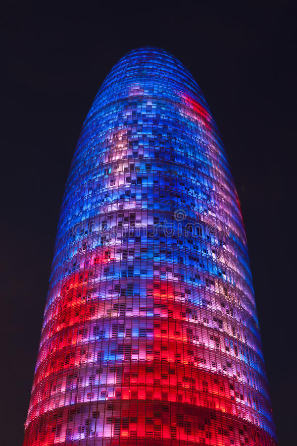 Agbar tower. In the city of Barcelona, Spain stock photography