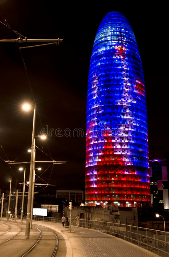 Agbar tower. Building located in Barcelona royalty free stock images