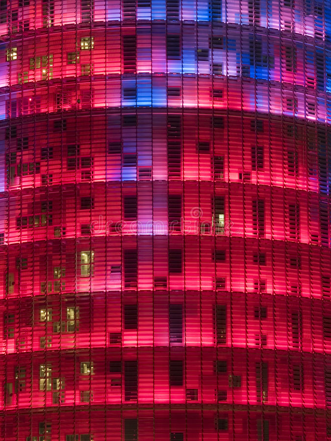 Agbar Tower 5. Agbar Tower in Barcelona, Spain stock image