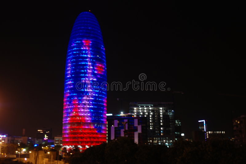 Agbar Tower. Modern Agbar tower in Barcelona royalty free stock photography