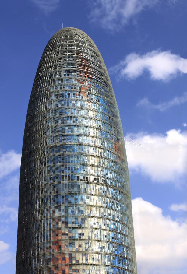 Agbar Tower, Barcelona. Torres Agbar in Barcelona, Spain - modern architecture royalty free stock photography