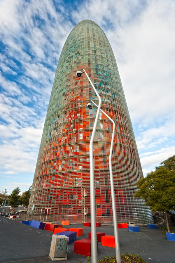 Download The Agbar Tower, Barcelona, Spain. Stock Photo - Image: 23146660