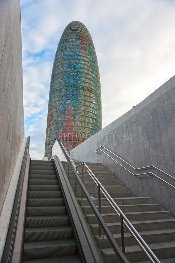 Download The Agbar Tower, Barcelona, Spain. Editorial Stock Photo - Image: 23851153