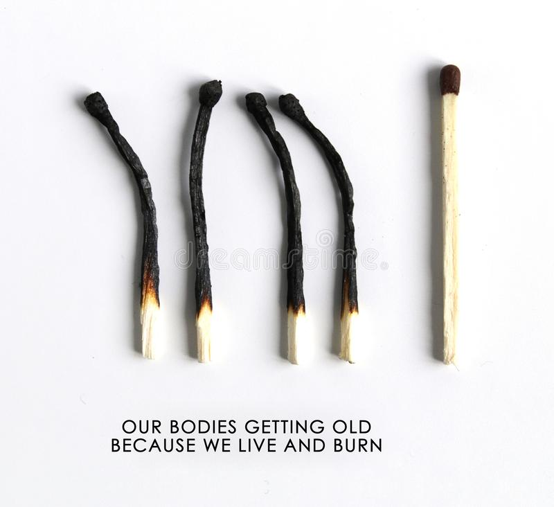 Age concept. Love yourself;. Love your body. Proud of your age stock photography