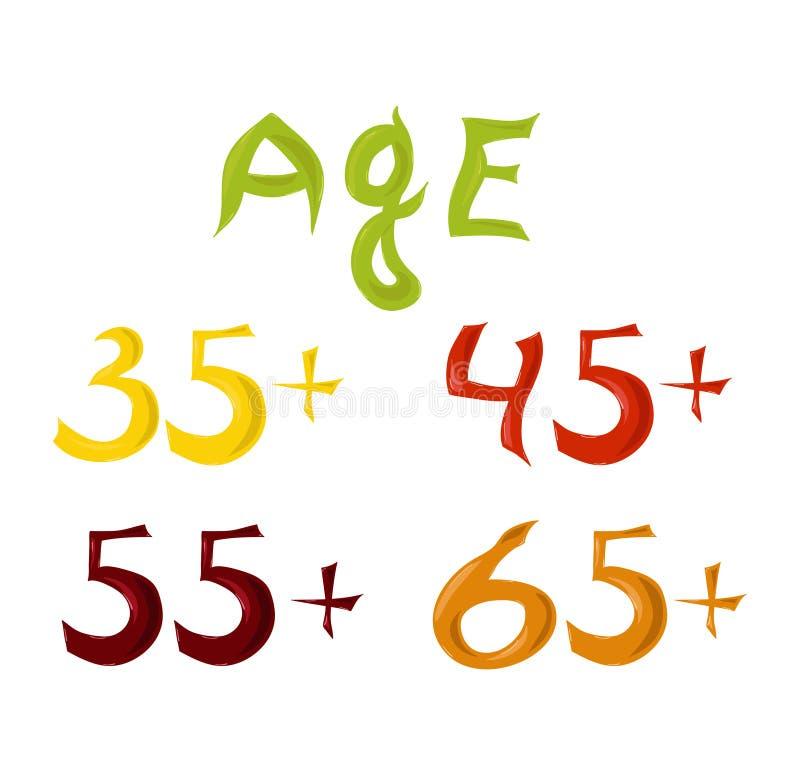 Age Group Symbols royalty free illustration
