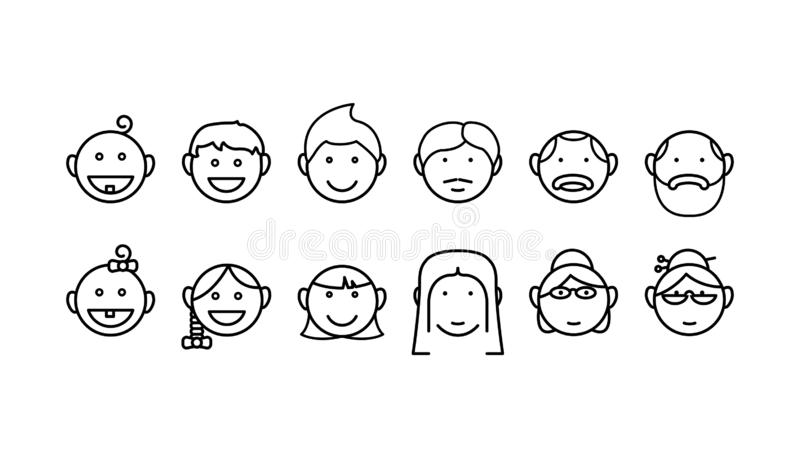 Age icon, vector , vector illustration. Isolated on white vector illustration