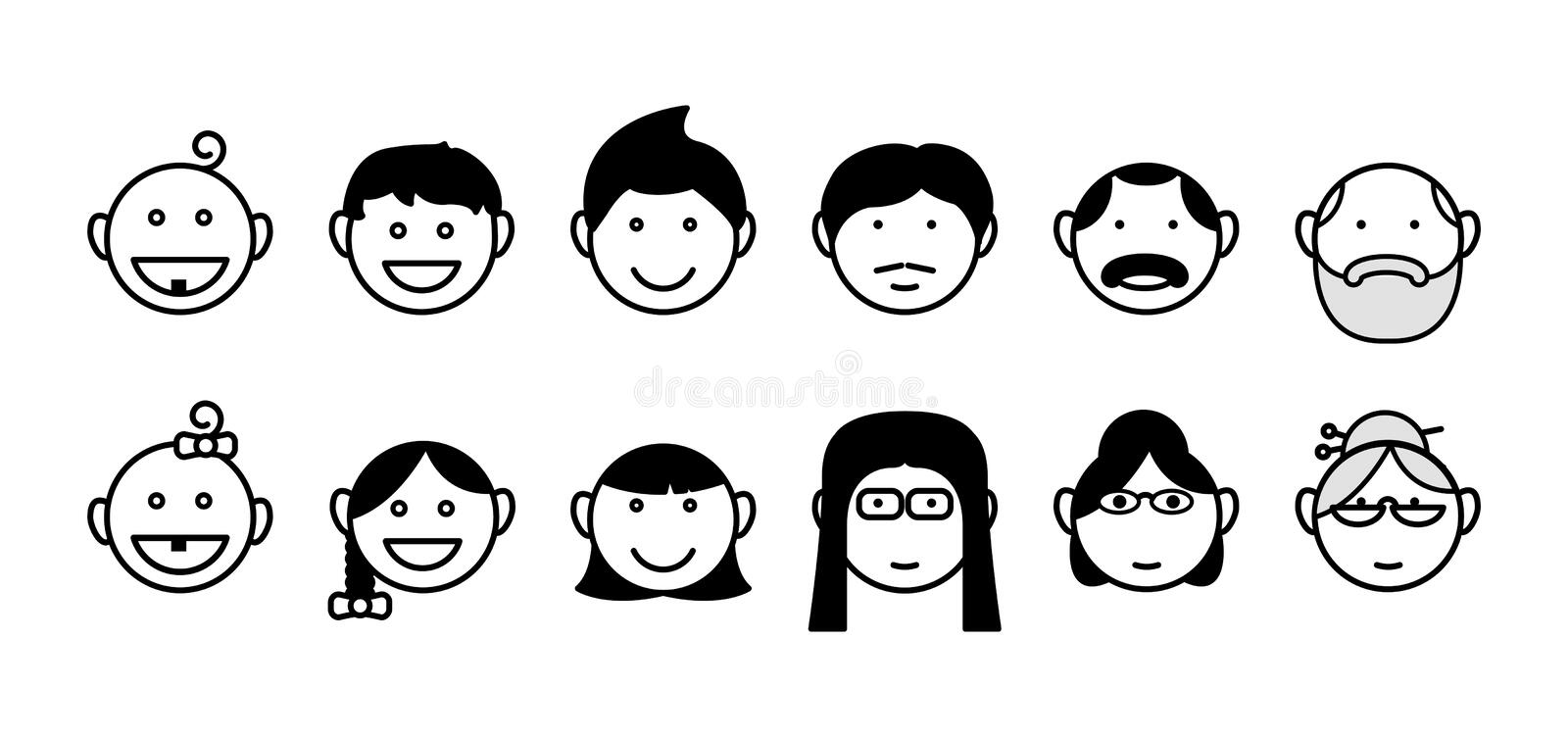 Age icon, vector , vector illustration. Isolated on white stock illustration
