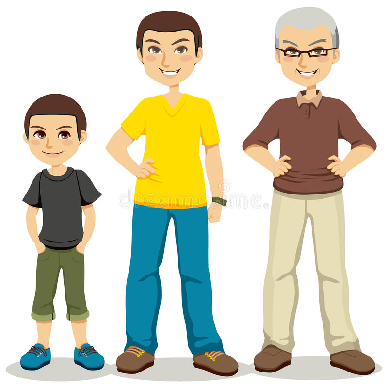 Age of Men vector illustration