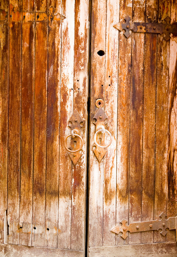 Age-Old Door royalty free stock photography