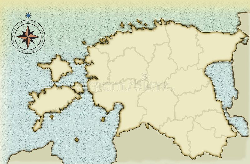 Age-old map of Estonia