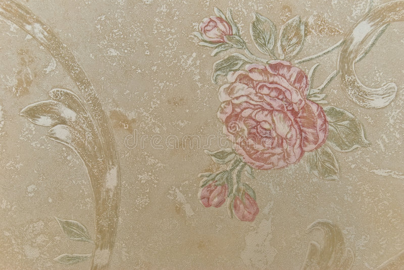 Age-old wallpapers as a background from flowers royalty free stock image