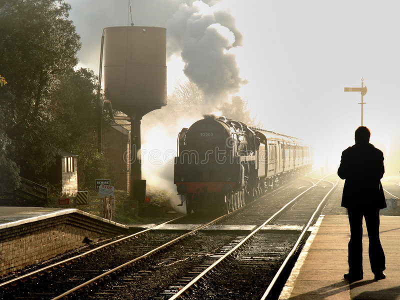 The Age of Steam stock photo