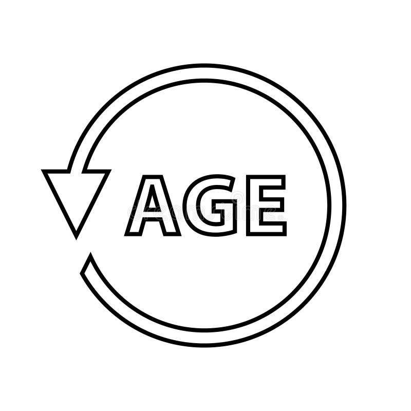 Age Vector Icon. Age symbol illustration. Age logo vector stock illustration