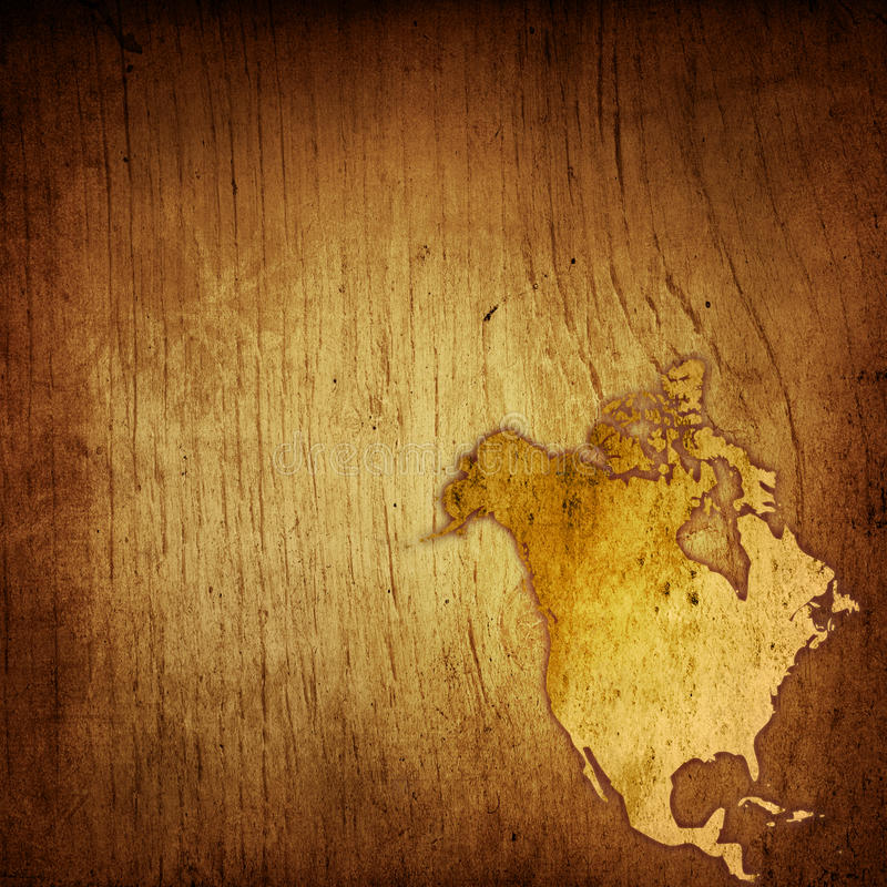 Aged America Map Stock Images