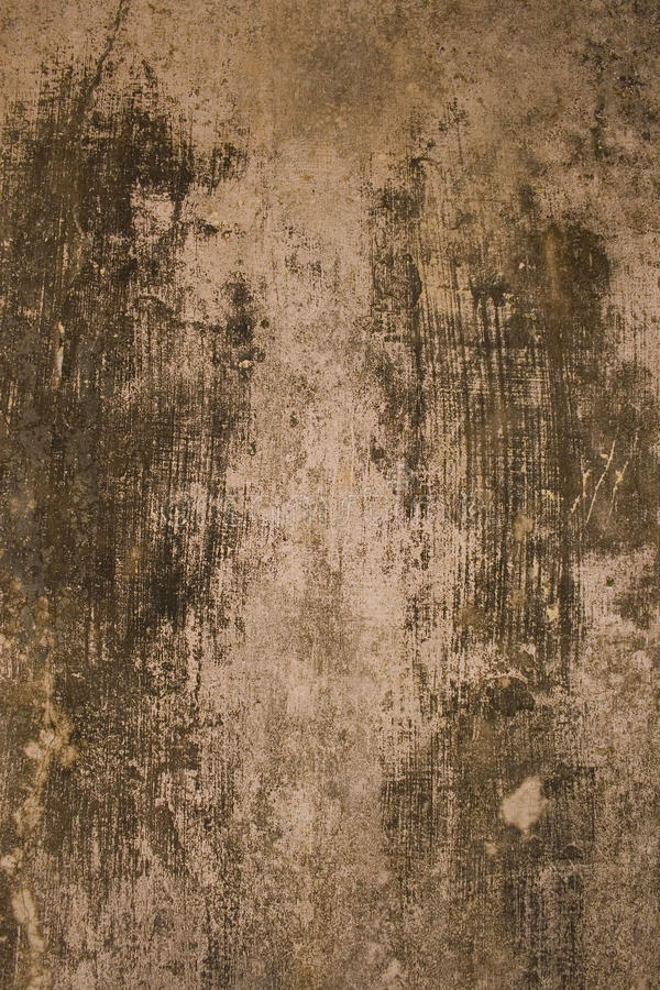 Aged black and grey plaster wall stock image