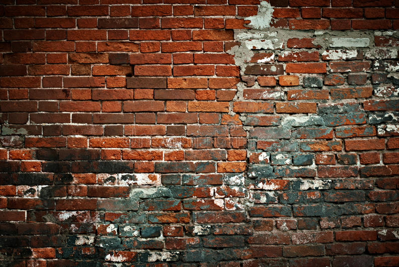 Aged brick wall stock photos