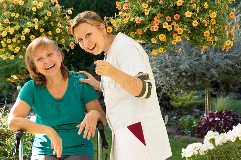 Aged care service stock photography
