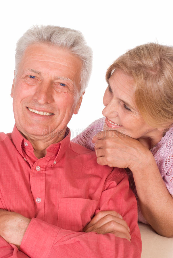 Download Aged couple portrait stock image. Image of isolated, couple - 20523423
