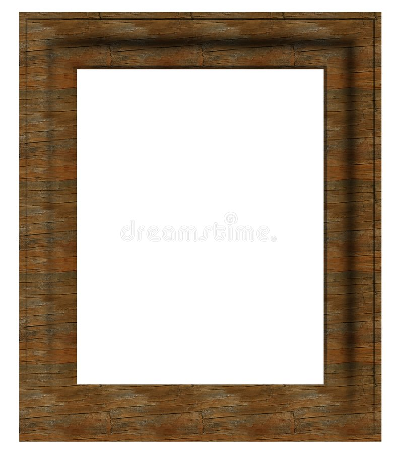 Aged, empty picture frame royalty free stock photo