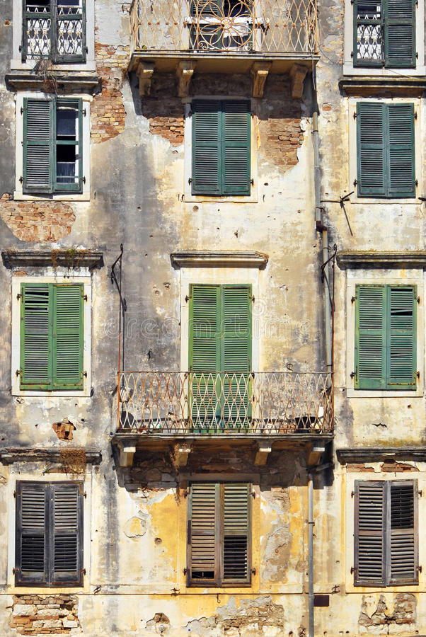 Download Aged facade stock image. Image of construction, derelict - 26206541