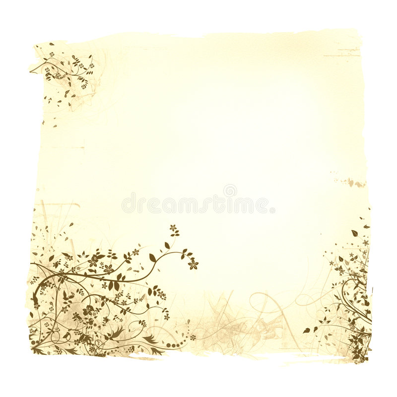 Aged floral paper royalty free stock photo