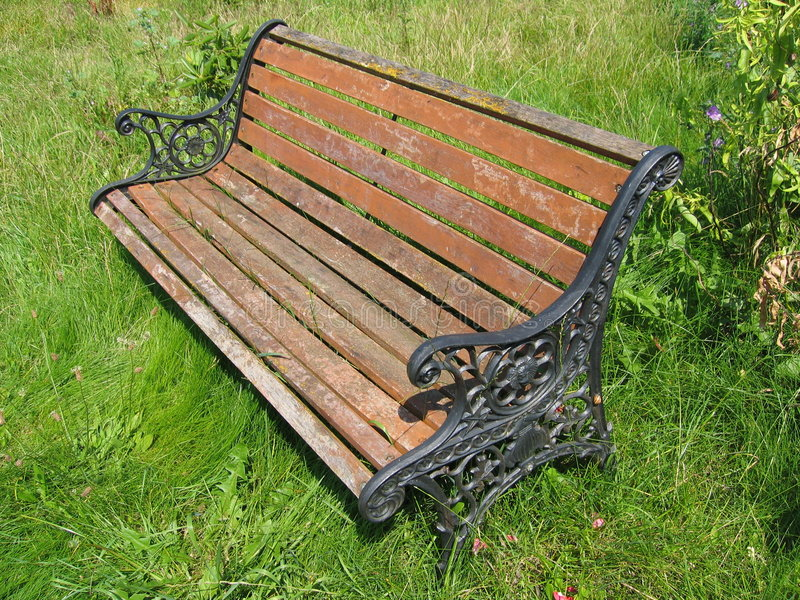 Aged Garden Bench royalty free stock image