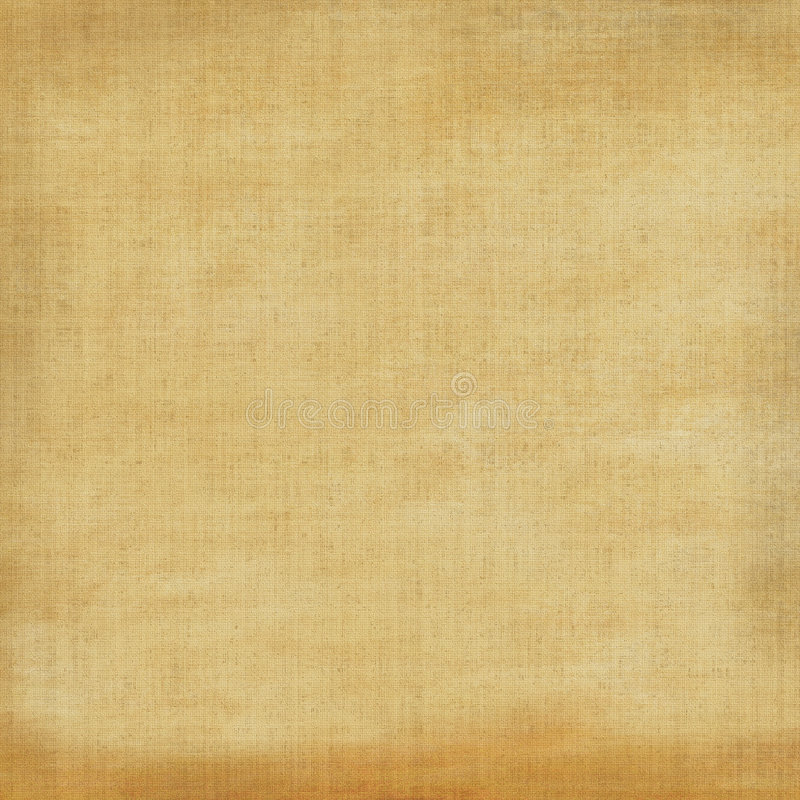 Aged Grunge Canvas. Vintage aged and worn linen tan brown tones fabric for background designs stock image
