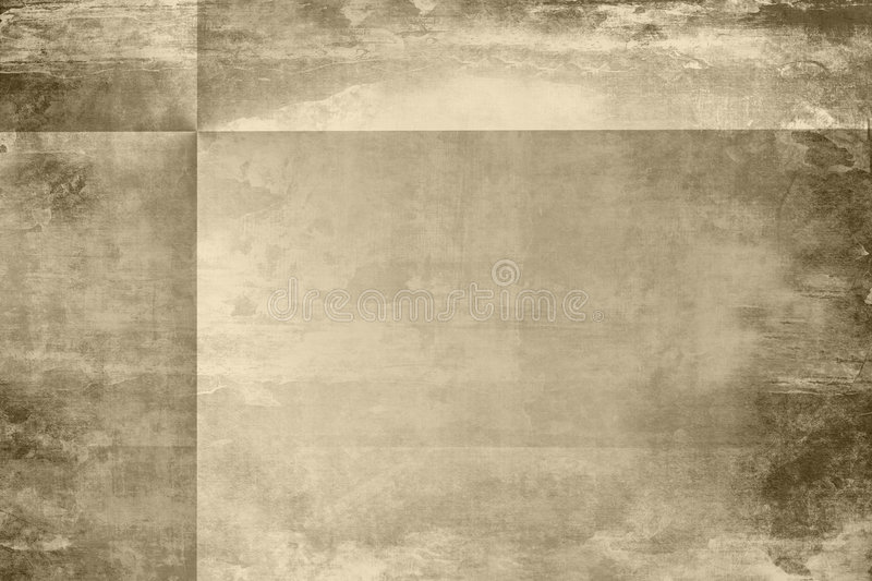 Aged grunge paper with folds royalty free stock photos